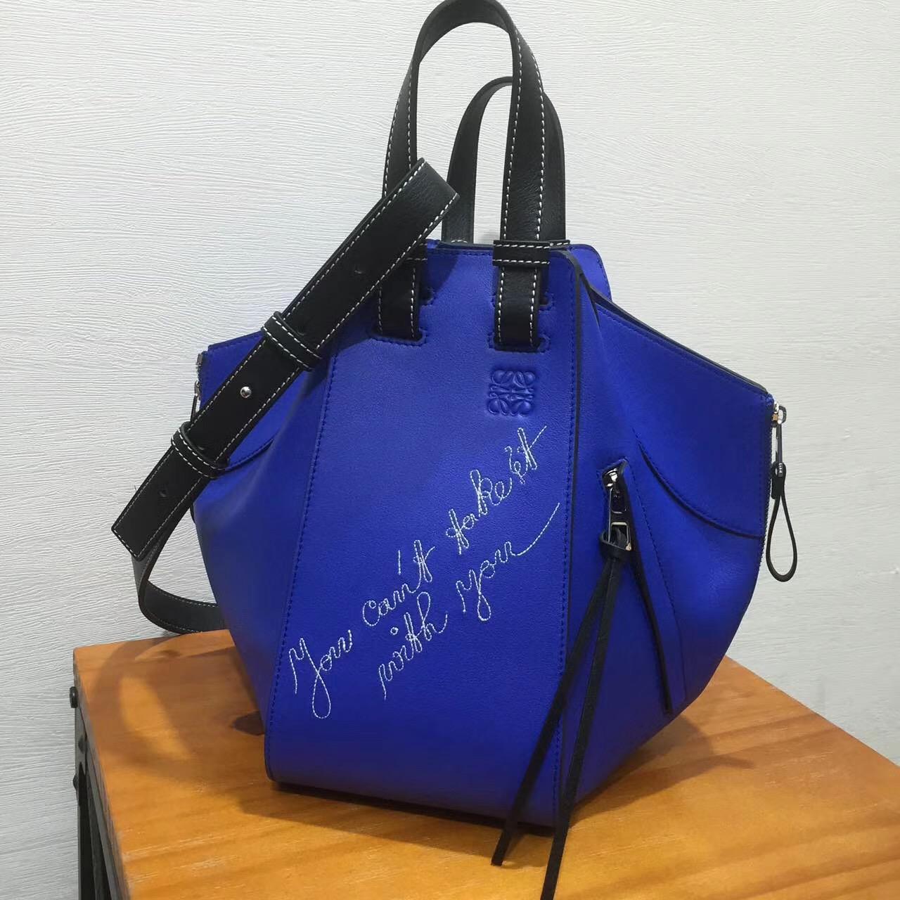 Loewe羅意威Hammock Cant Take It Small Bag 電光藍