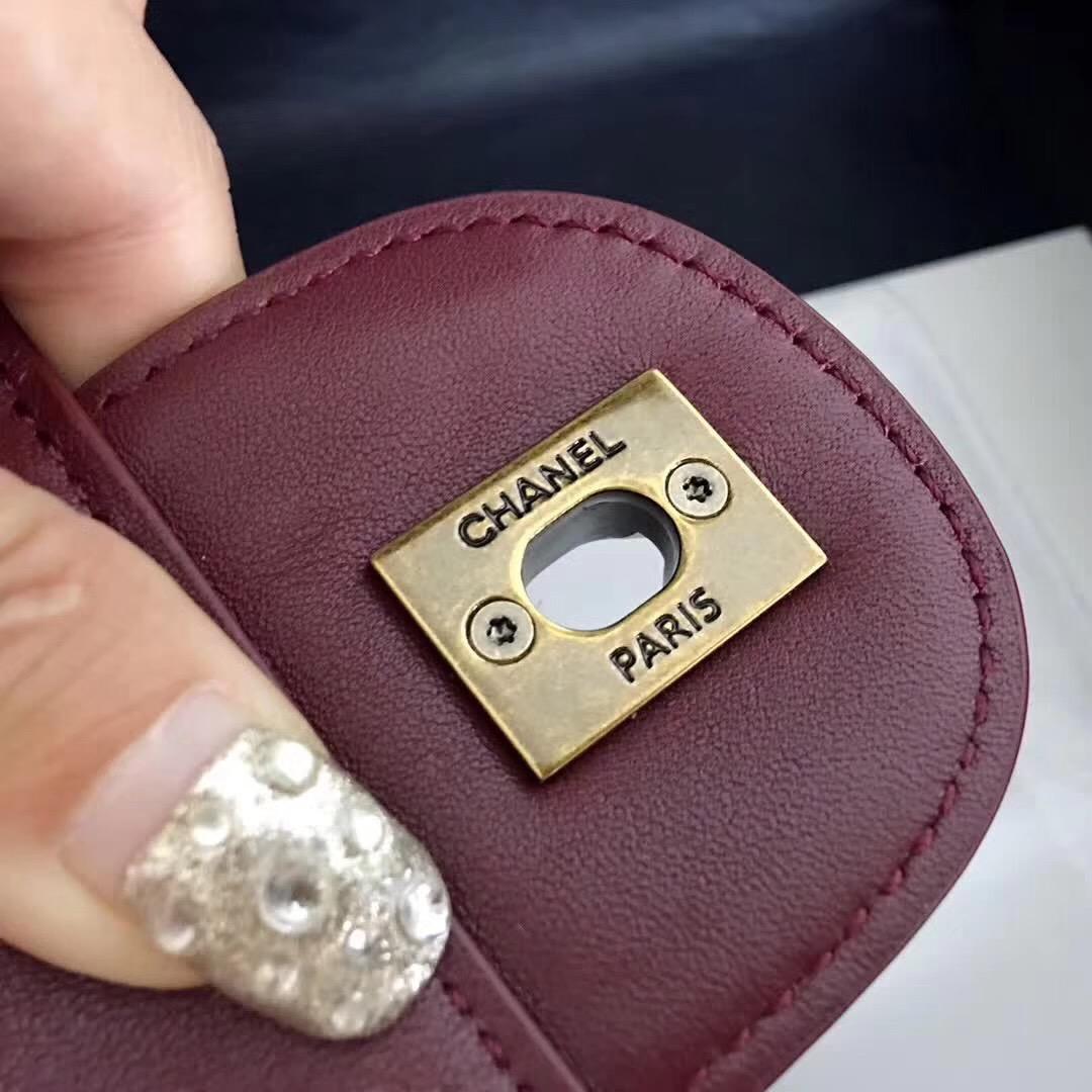 小香經典款孟買系列 Perfect Edge酒紅原廠胎牛皮 女包手袋