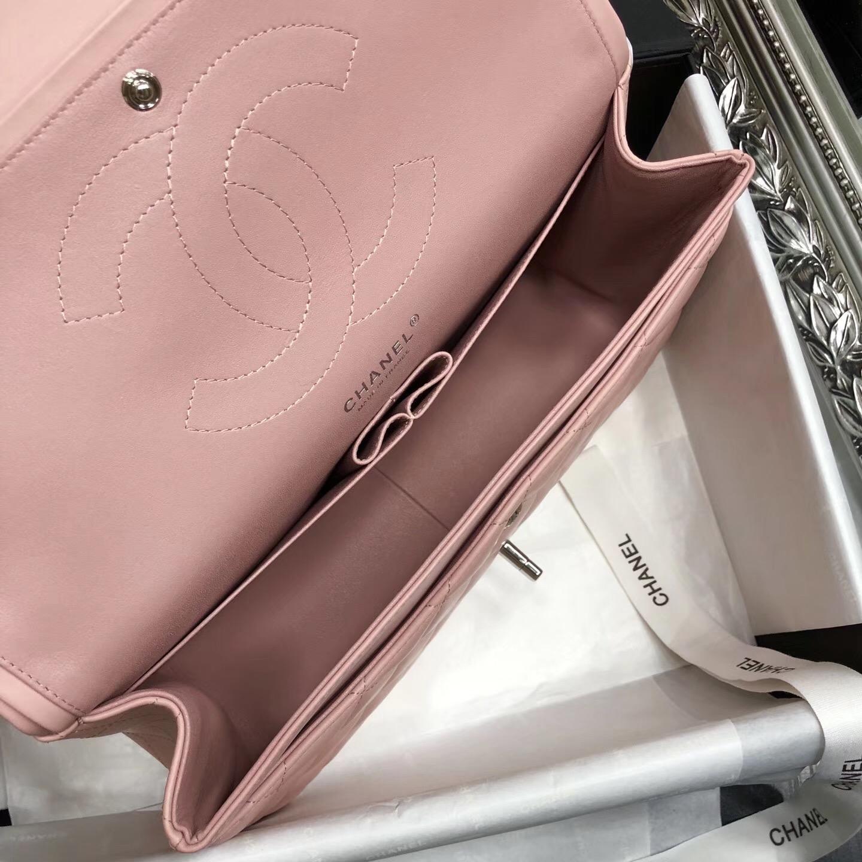 Chane. Classic Flap Bag A58600大號經典口蓋包 粉色小羊皮