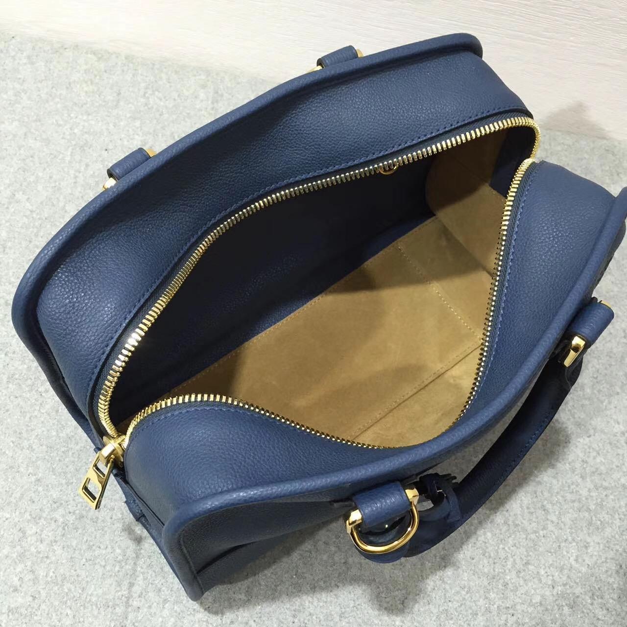 Loewe羅意威 Amazona 28 Bag 粒面小牛皮 靛蓝色