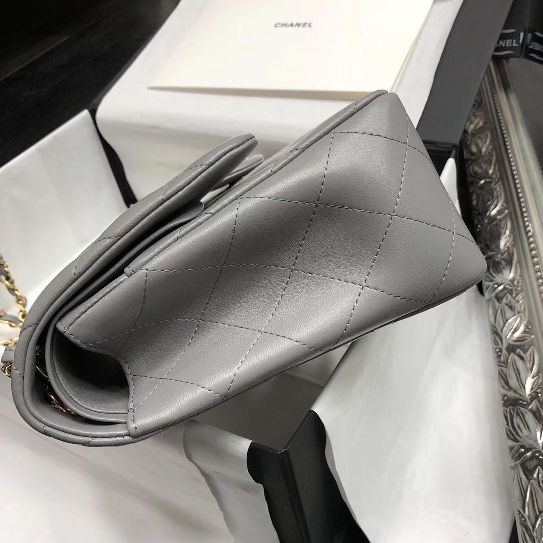 Chane. Classic Flap Bag A58600 大號經典口蓋包 灰色小羊皮