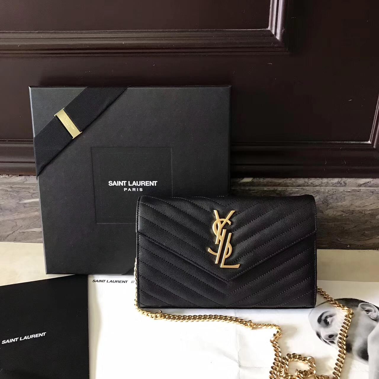 聖羅蘭 Saint Laurent ysl最新woc 22.5cm logo分開链条小包
