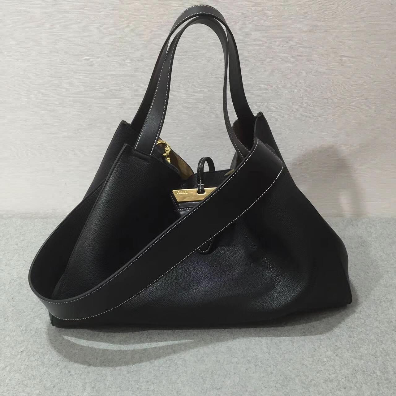 loewe羅意威巴塞羅那包 Barcelona Tote Bag 黑色
