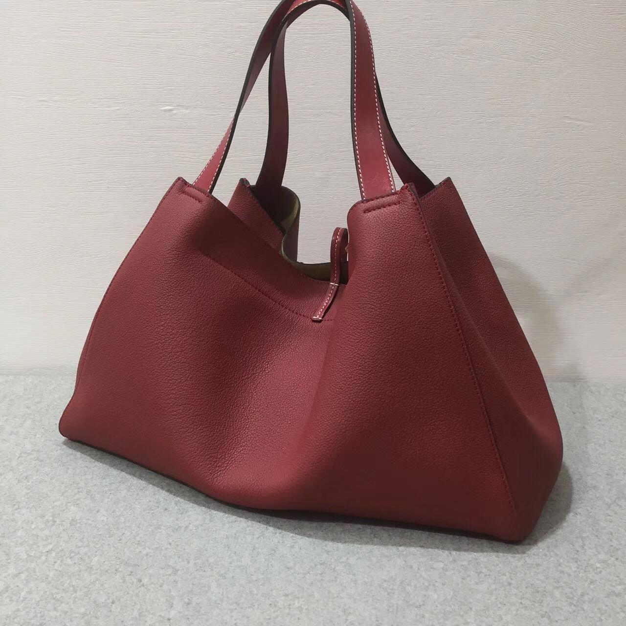 loewe羅意威巴塞羅那包 Barcelona Tote Bag 胭脂紅