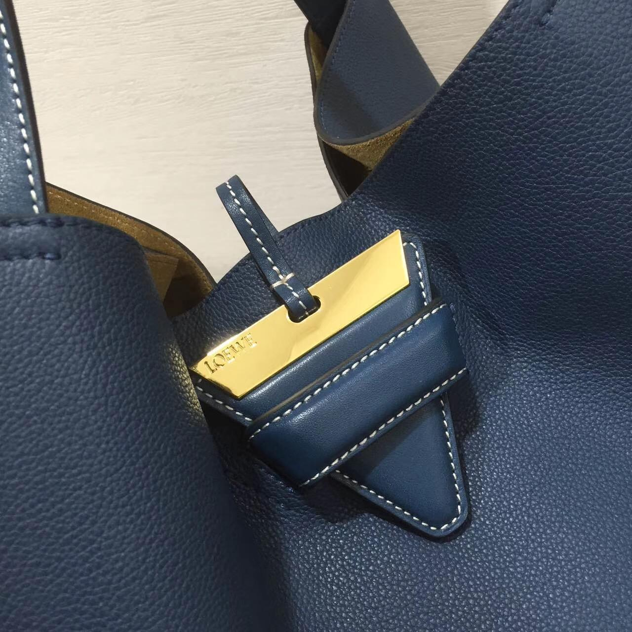 loewe羅意威巴塞羅那包 Barcelona Tote Bag 海军蓝色旅行袋