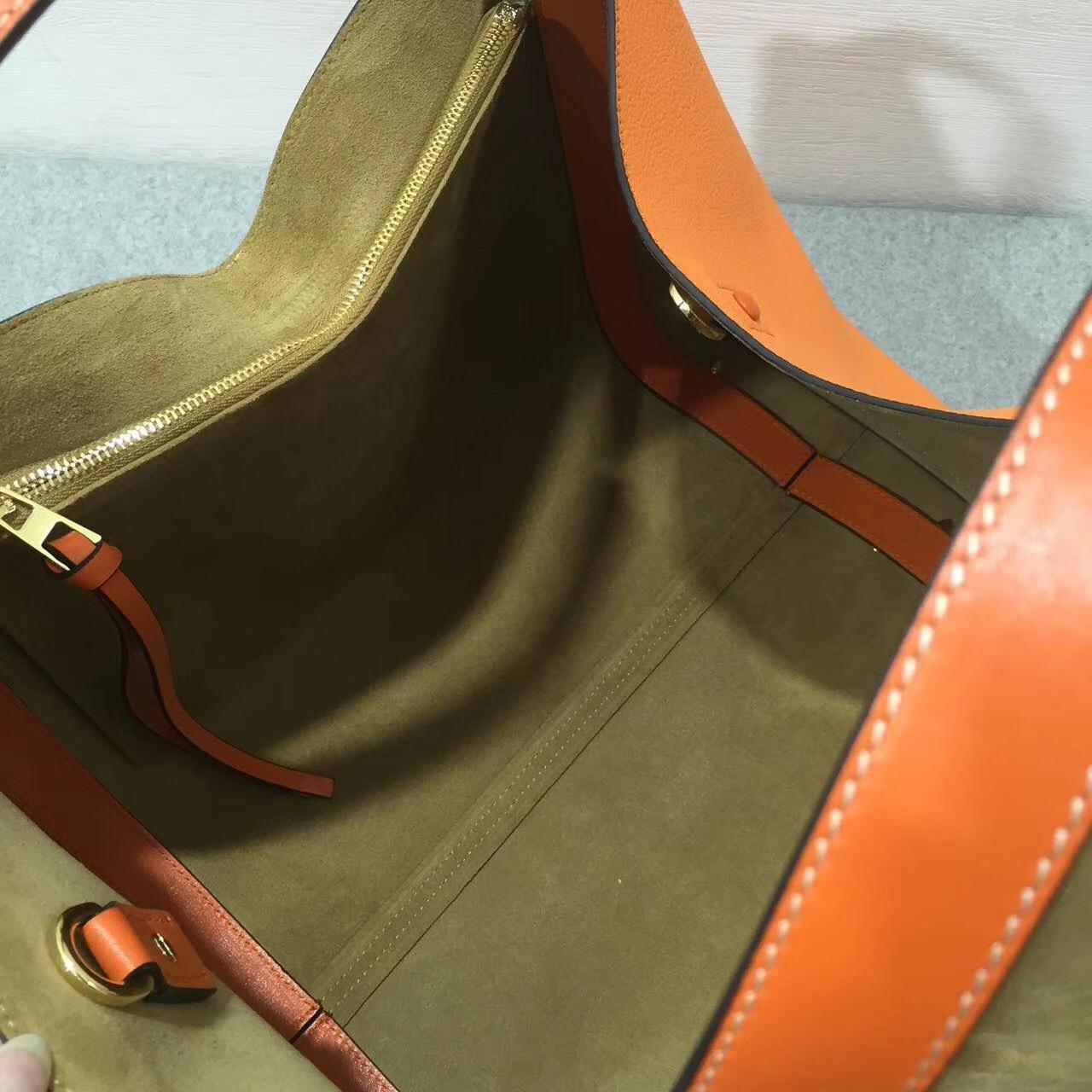loewe羅意威巴塞羅那包 Barcelona Tote Bag 橙色日常旅行袋
