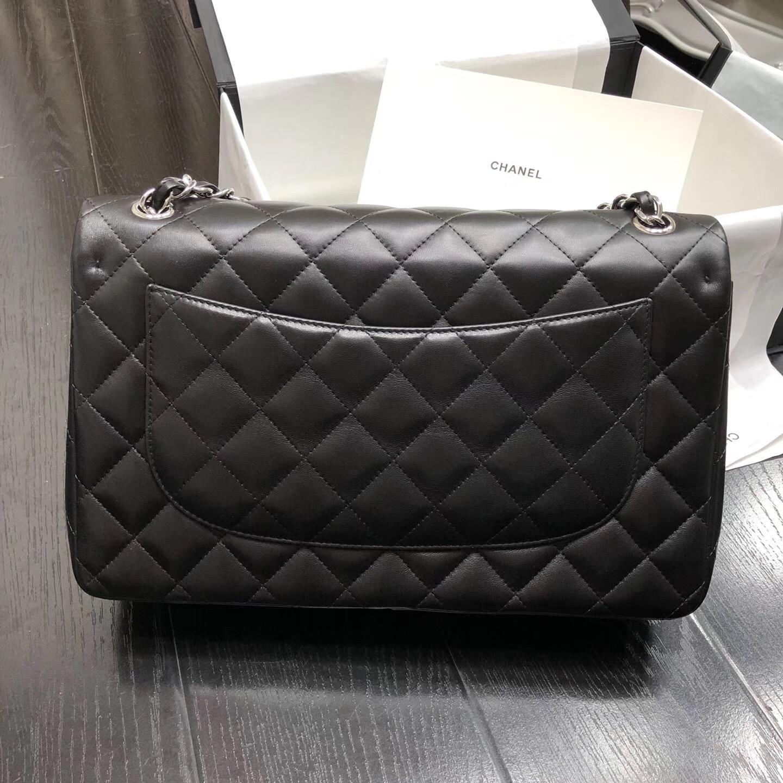 Chane. Classic Flap Bag A58600大號經典口蓋包 黑色小羊皮