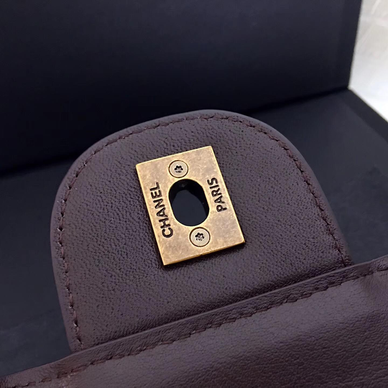 小香經典款孟買系列 Perfect Edge咖啡小牛皮手袋 古銅色五金