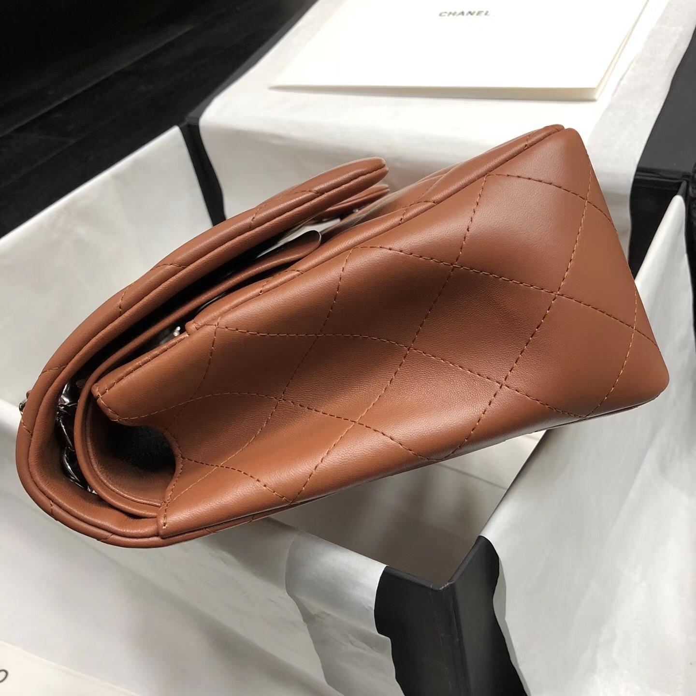 Chane. Classic Flap Bag A58600大號經典口蓋包 焦糖色小羊皮金色