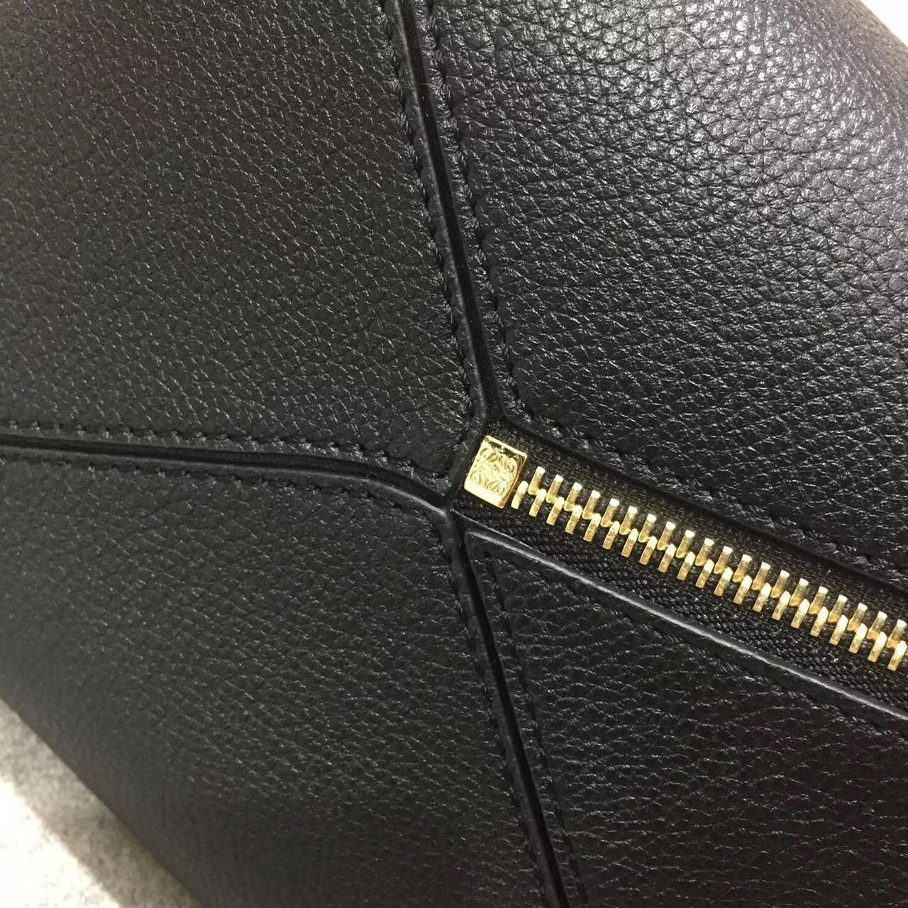 Loewe羅意威幾何包 Puzzle Small Bag Midnight Blue/Black