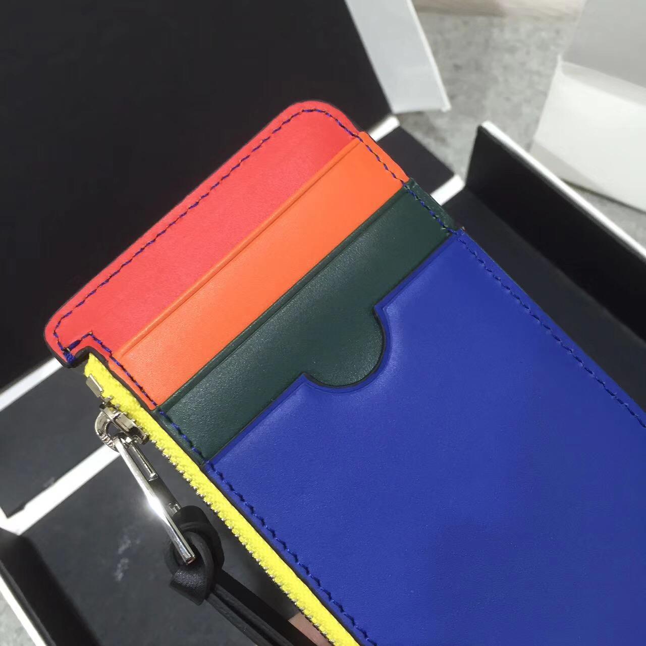 Loewe 零錢卡包Rainbow Coin/Card Holder Multicolor/Black