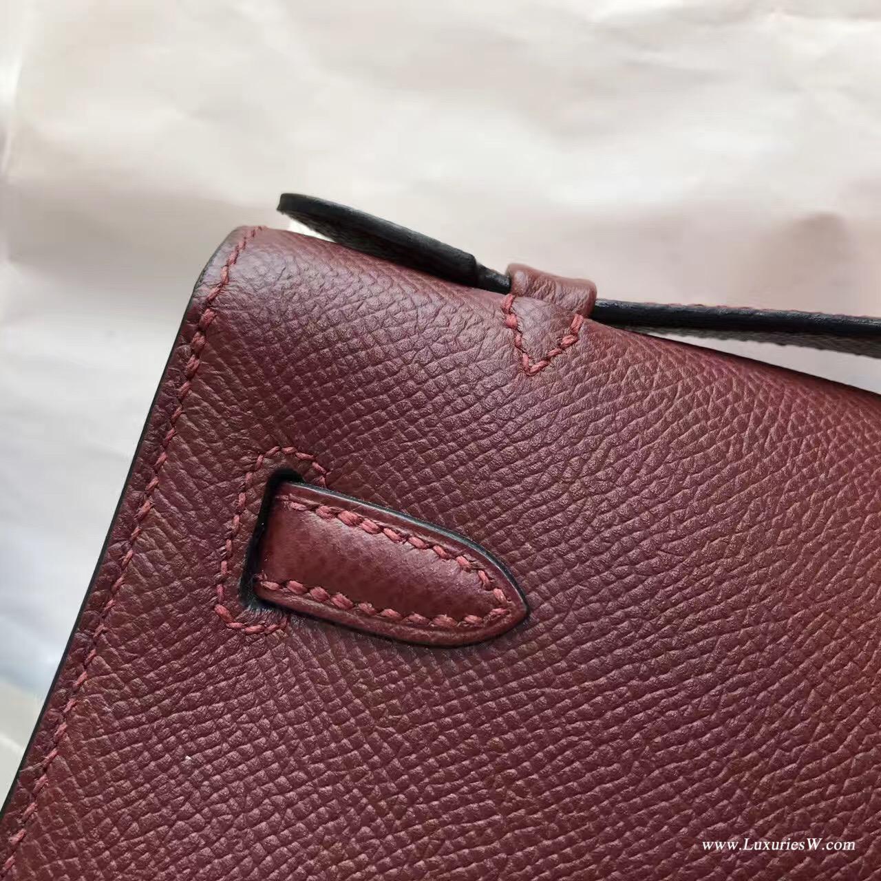 Hermes Mini Kelly Epsom 愛馬仕紅CK55 Rouge 紅色最有代表性顏色 金扣