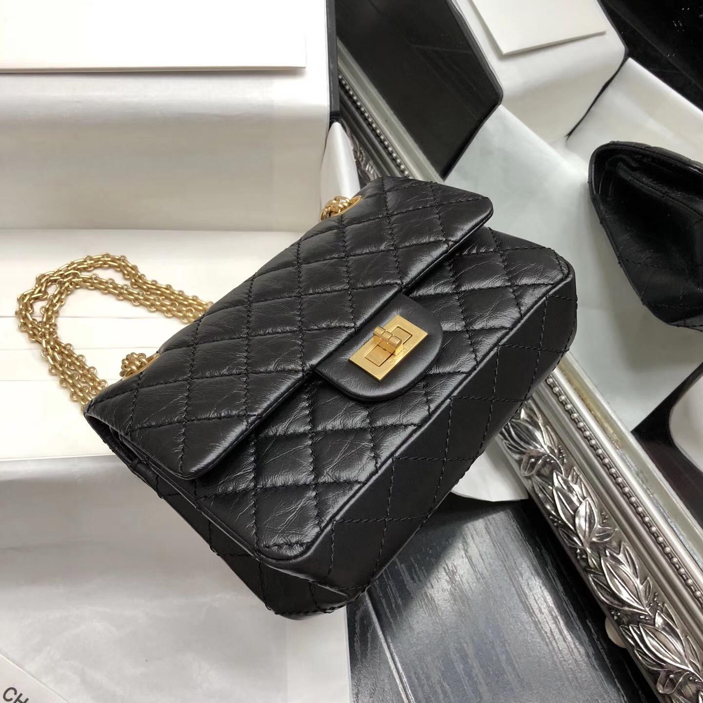 Chane.復刻版迷你小號 口蓋包Mini20cm Large 2.55 handbag