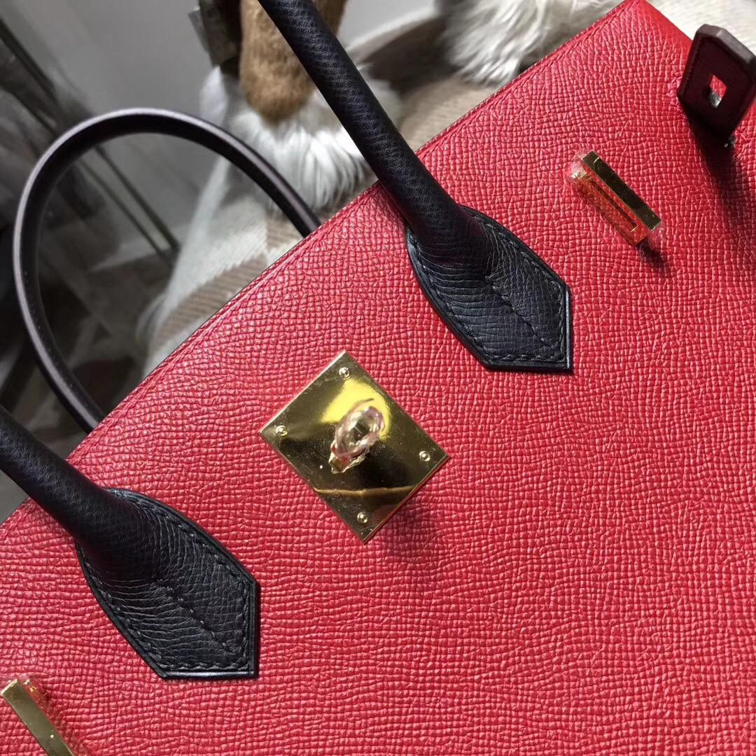 Hermes birkin 30cm epsom q5 rouge casaque 國旗紅 配黑色noir ck89金扣