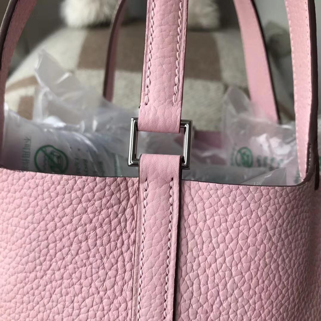 Hermes Picotin Lock 18cm togo P1 Rose Eglantine 月季花粉銀扣