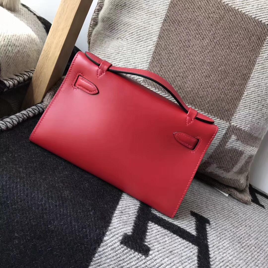 Hermes Mini kelly box ruby b5 寶石紅金扣 超美的寶石紅 絕美的顏色