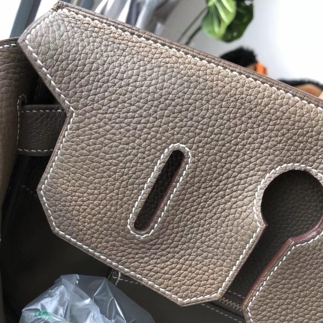 愛馬仕鉑金包 Hermes Birkin 40CM HAC togo大象灰 etoupe ck18金扣