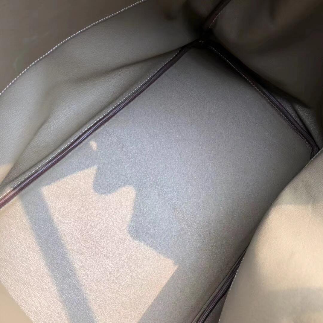 愛馬仕鉑金包 Hermes Birkin 40CM HAC togo大象灰 etoupe ck18银扣