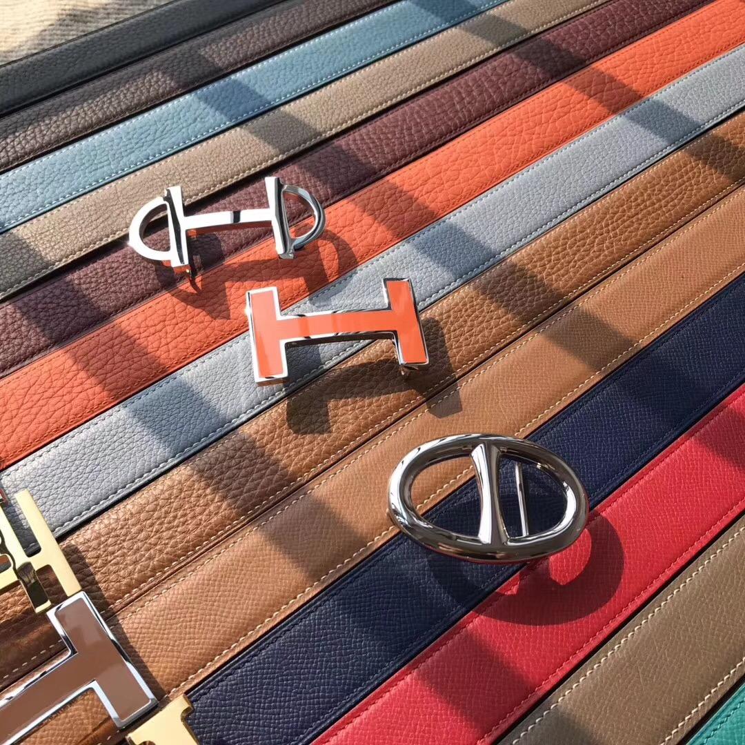 愛馬仕Hermes皮帶 H扣 belt epsom腰帶有哪些顏色材质 有些什麽扣子?