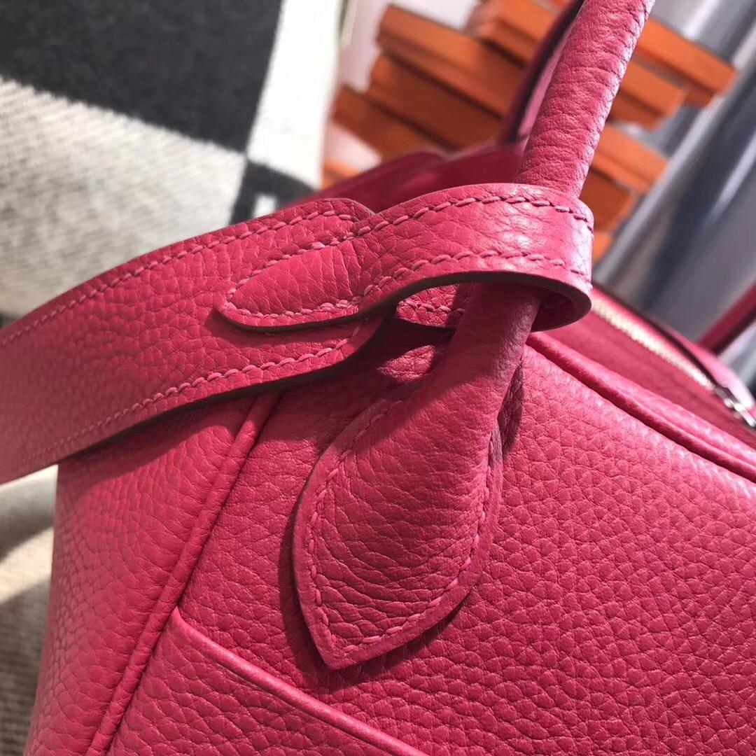 Hermes Lindy togo 26cm togo 2018年新色美翻天的顏色 I6極致粉色銀扣