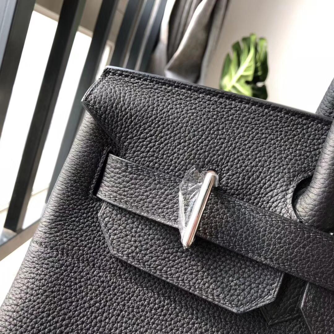 愛馬仕鉑金包 Hermes Birkin 40CM HAC Togo CK89 NIOR 黑色银扣