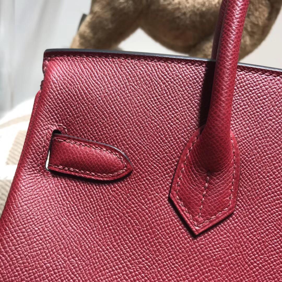 愛馬仕最出名的包袋鉑金包birkin 30cm EPsom K1 Rouge Grenat 石榴紅金扣