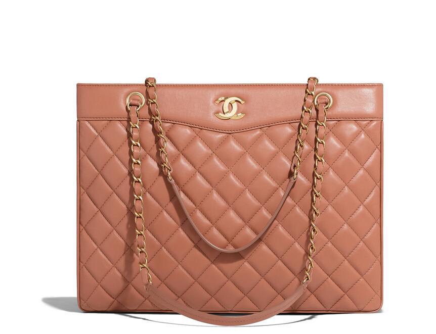 Chanel 2018春夏系列黑色羊皮 Large shopping bag大號手提包 A57030