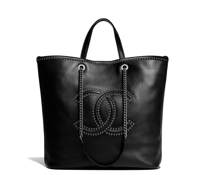 2018早春度假系列手袋chanel Large shopping bag 小牛皮大號手提包