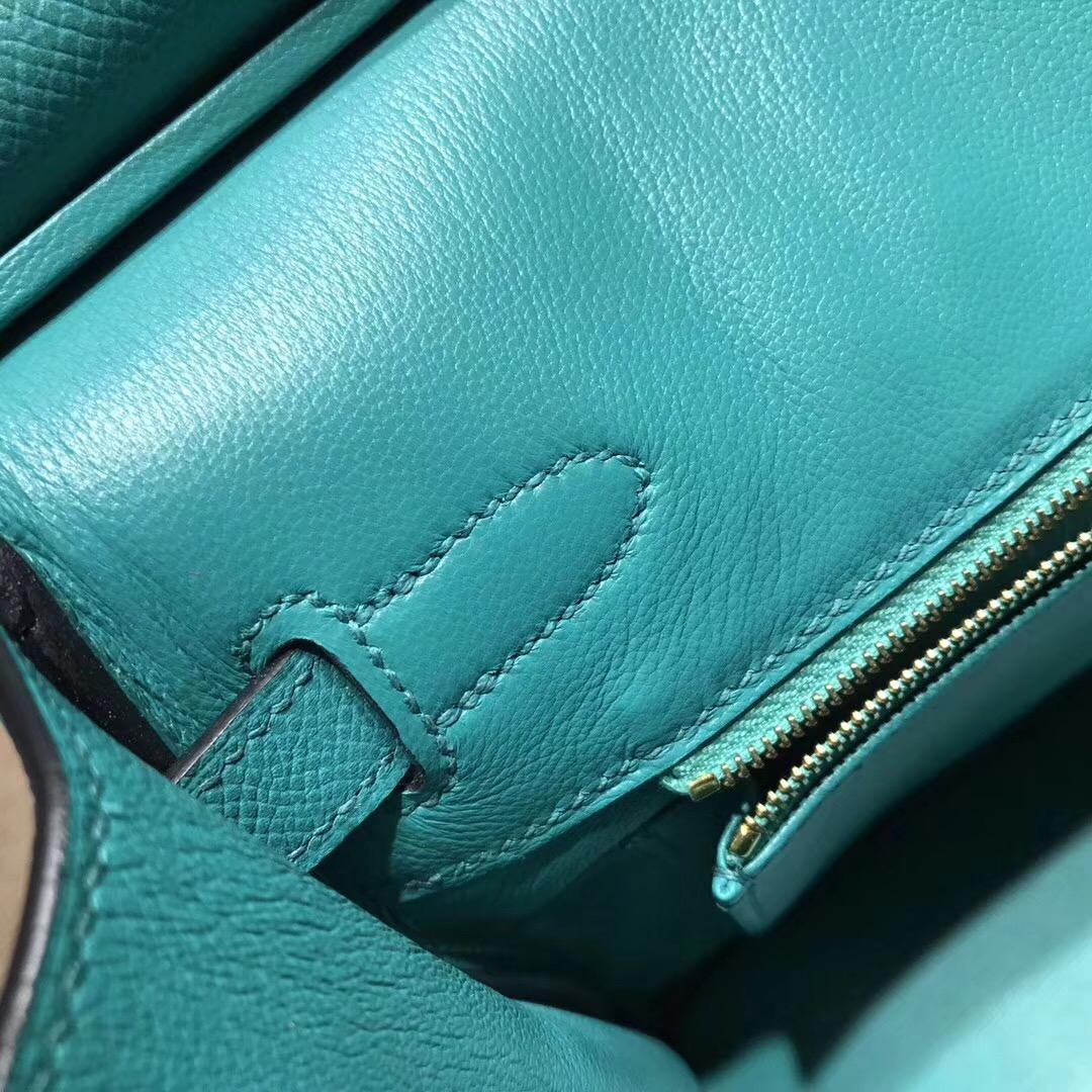 Hermes birkin 30cm epsom 7f孔雀藍 blue paon 超美的藍綠混合色 金扣