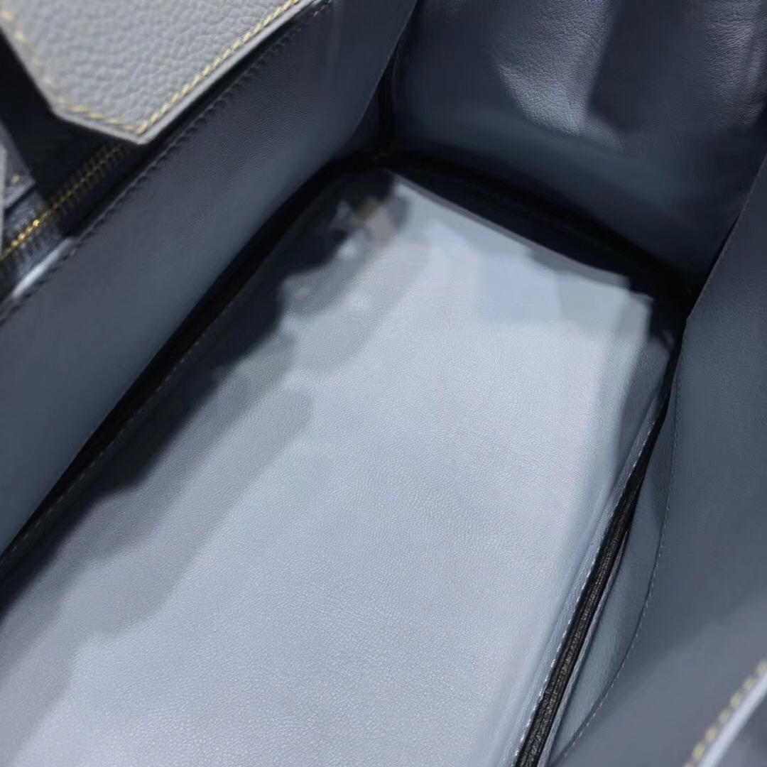 愛馬仕鉑金包Hermes Birkin 30 togo 8U 冰川藍 氣質至極金扣