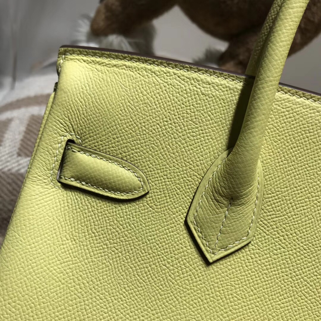 Hermes愛馬仕鉑金包Birkin 30 1Z Jaune Poussin 小雞黃 Epsom 銀扣