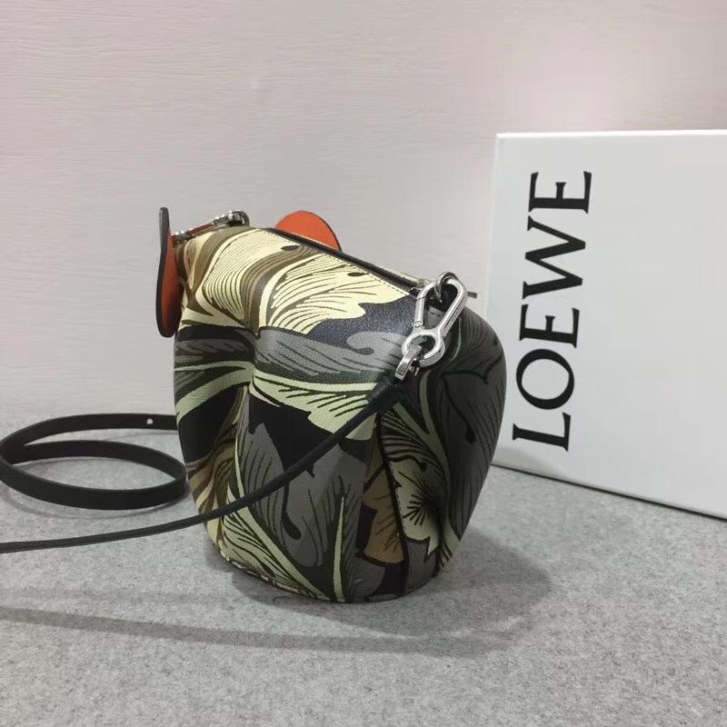 Loewe Elephant Camo Mini Bag Green Multitone大象形迷妳袋