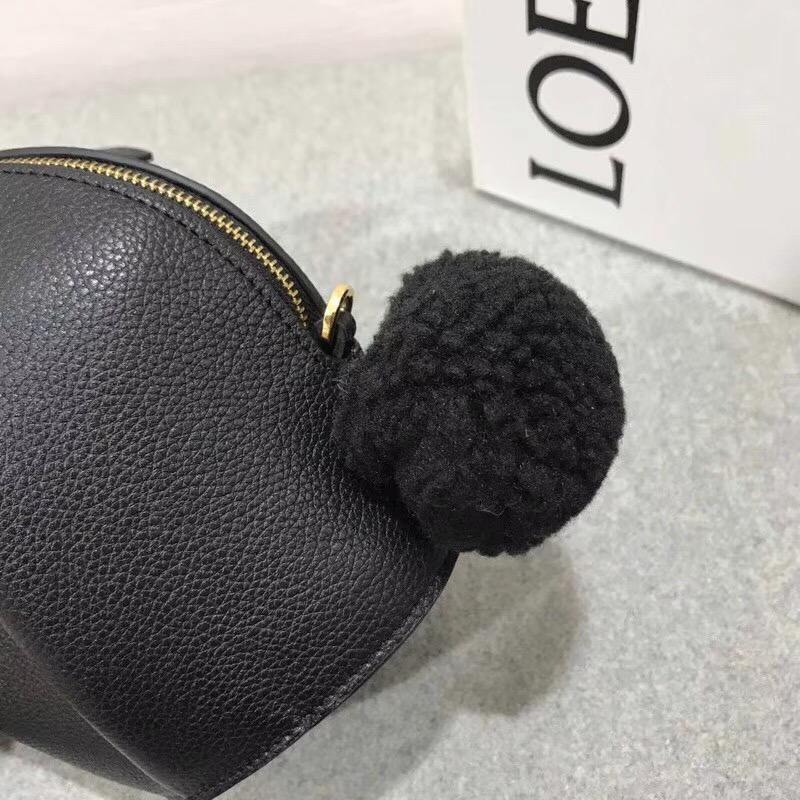 Loewe Bunny Mini Bag 黑色兔子形迷妳包軟顆粒的小牛女包