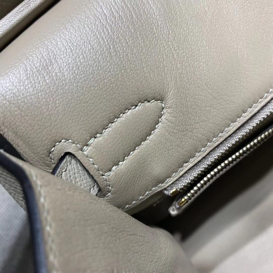 Hermes Birkin 30cm Epsom CK81 Gris Tourterelle 斑鳩灰金扣金属