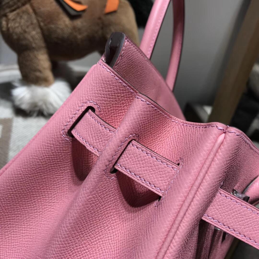 Hermes Brikin包袋 30cm Epsom 1Q Rose Confetti 奶昔粉銀扣
