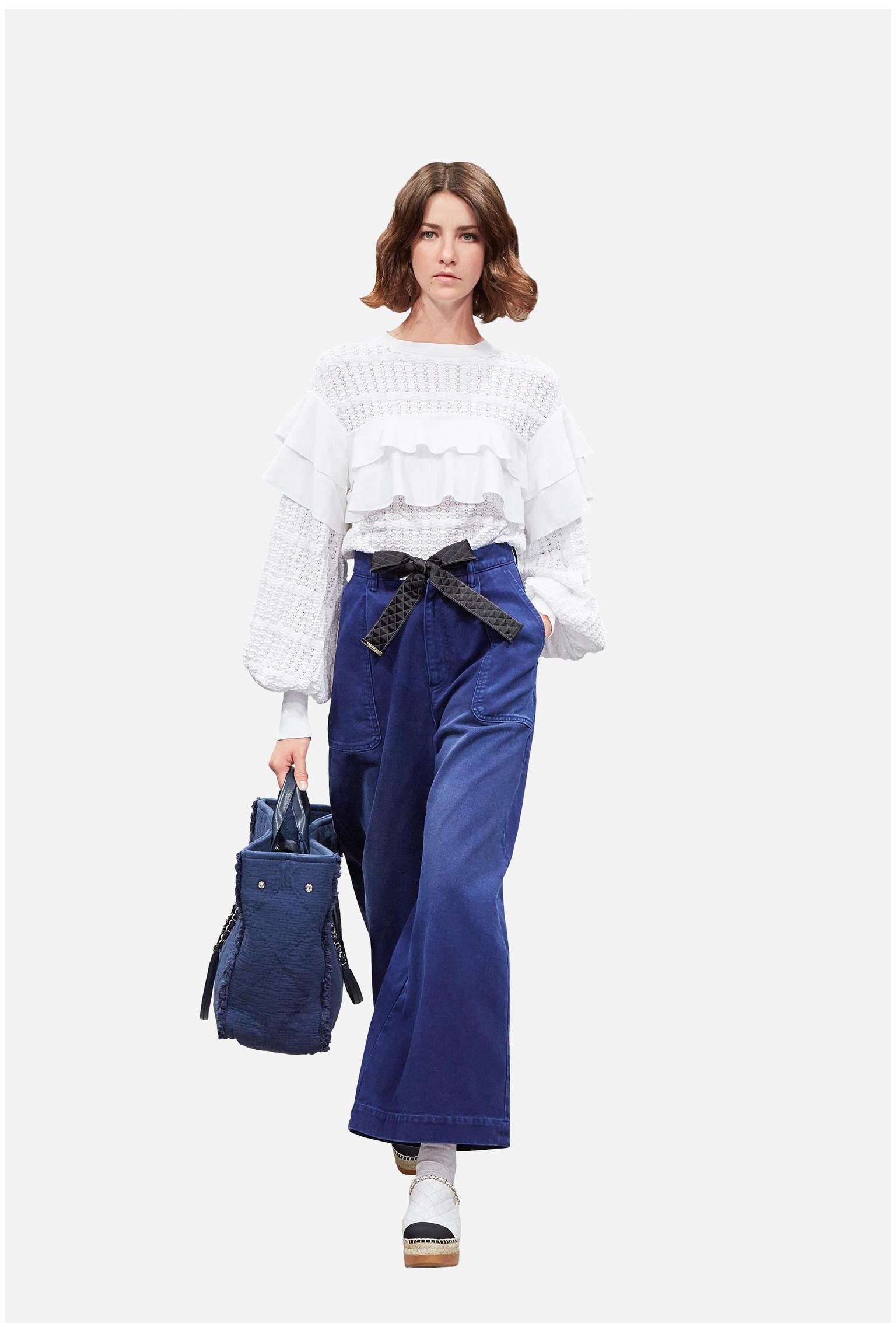 2018春夏新款海軍藍沙灘包 chanel Large shopping bag大號手提包