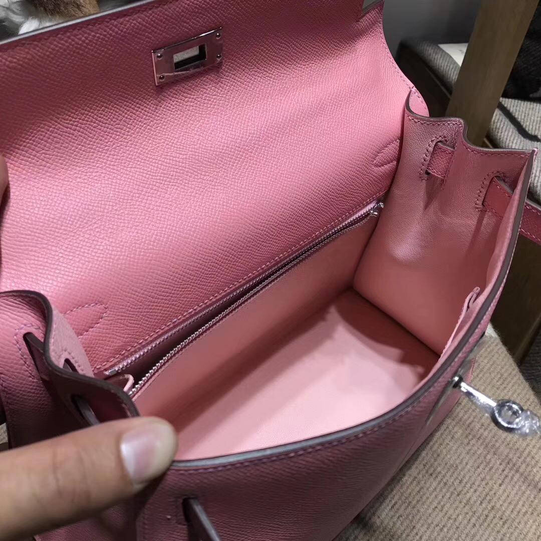Hermes Kelly 28cm Epsom 1Q Rose Confetti奶昔粉外縫