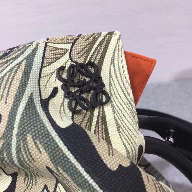Loewe Flamenco Knot Camo Bag Green Multitone