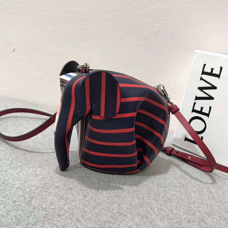 Loewe Elephant Stripes Mini Bag Multicolor 彩色條紋大象迷妳手袋
