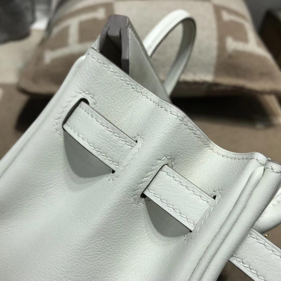 Hermes Birkin 25cm Swif CK10 Craie奶昔白金扣GHW 氣質淡雅的素色系