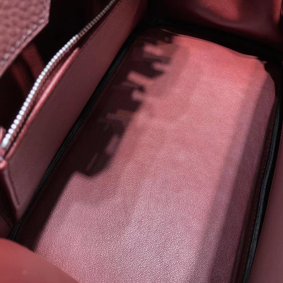 Hermes鉑金包birkin 30cm togo 小牛皮 cc55 rouge 愛馬仕紅 银扣金屬