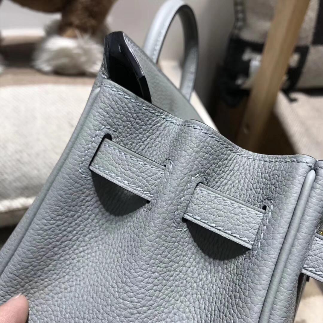 Hermes最出名的包 Brikin 25cm togo 4Z Gris Mouette 海鷗灰金扣