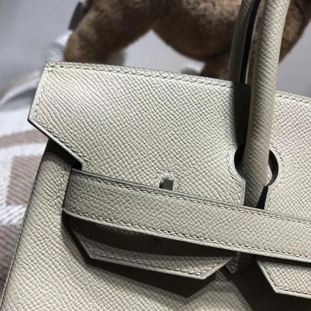 Hermes Birkin 30cm Epsom CK81 Gris Tourterelle 斑鸠灰 鸽子灰 银扣