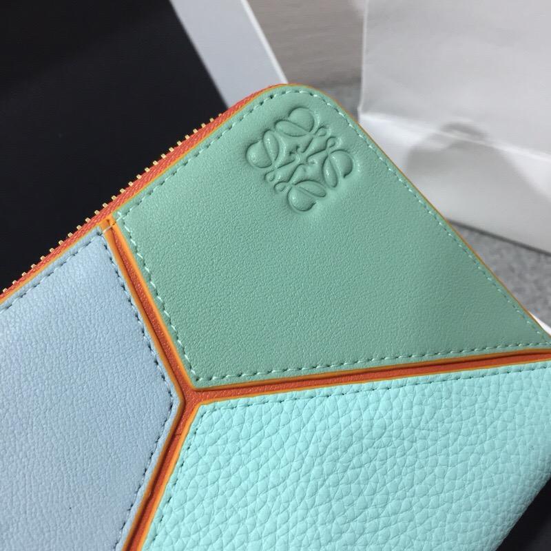 Loewe Puzzle Zip Around Wallet Aqua Multitone 拉鏈錢包
