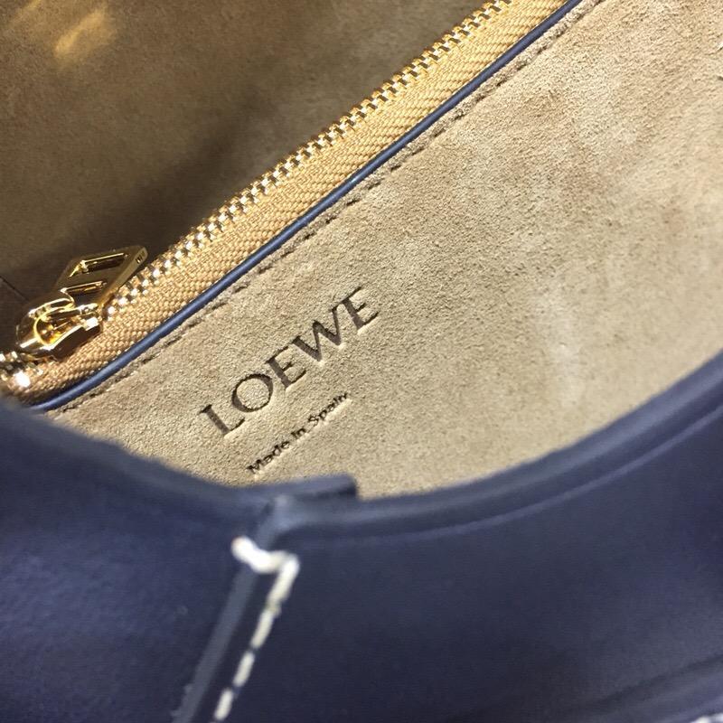 loewe Gate Bag Midnight Blue 柔軟天然牛皮 馬鞍包