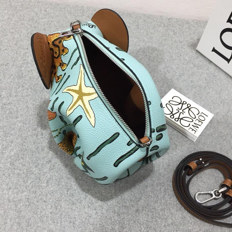 Loewe Eleph Paula Mermaid Mini Bag 水綠色 迷妳手袋大象包