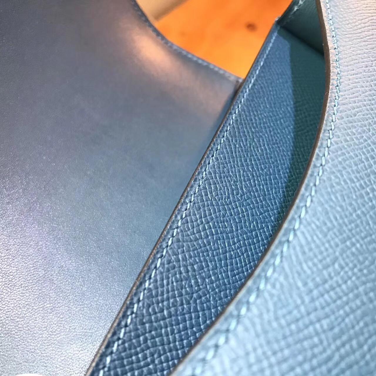 Hermes康斯坦斯包 Constance 18(19)Epsom R2瑪瑙藍 blue agate 最流行的藍色