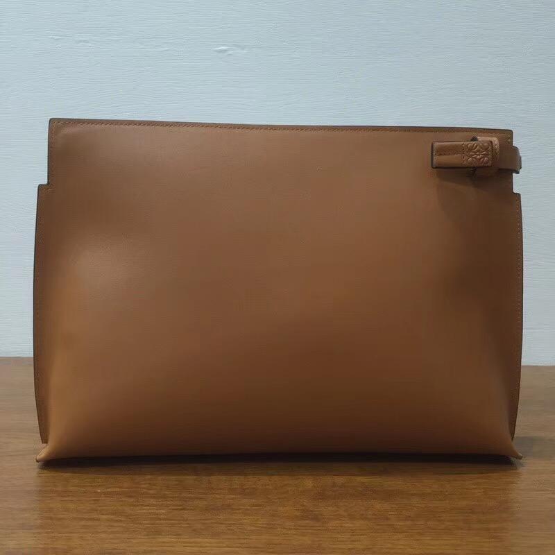 Loewe T Pouch Bag Bicolor 光滑小牛皮 拉鏈手拿包