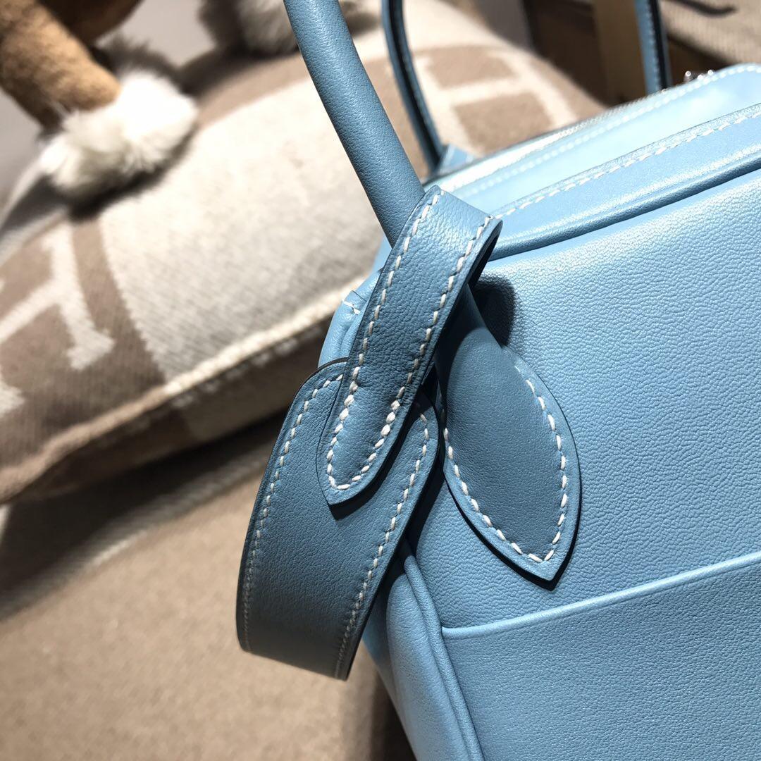 愛馬仕琳迪包Hermes Lindy bag 26 Swift calfskin cc75牛仔藍
