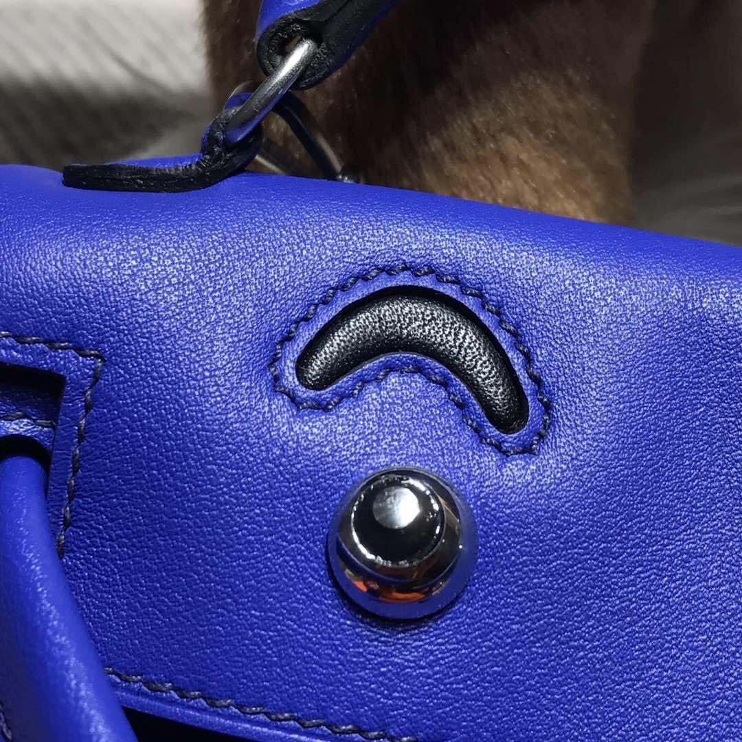 愛馬仕Hermes Kelly Doll Swift calfskin 7T電光藍 Blue Electric 銀扣